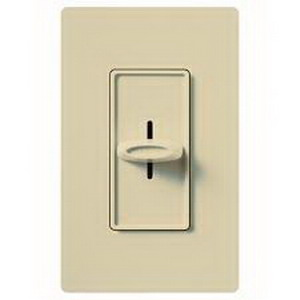 Lutron S-1000-IV Skylark Single Pole Slide-To-Off Dimmer 120 Volt AC 1000 Watt Incandescent/Halogen Ivory