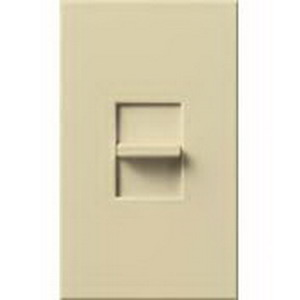 Lutron NT-600-IV Nova-T® Single Pole Small Control Slide-To-Off Dimmer; 120 Volt AC, 600 Watt, Incandescent/Halogen, Ivory