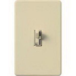 Lutron AY-103P-IV Ariadni® Single Pole 3-Way Preset Slide Dimmer with Toggle Switch; 120 Volt AC, 1000 Watt, Incandescent/Halogen, Ivory