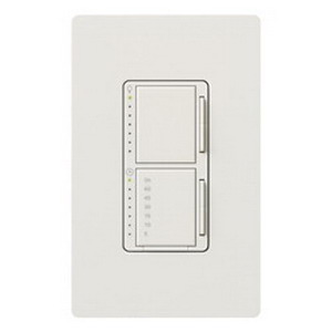 Lutron MA-L3T251-WH Maestro&reg Single Pole Digital Fade Tap On/Off Dimmer with Timer Switch 120 Volt AC  300 Watt  2.5 Amp  Incandescent/Halogen  White