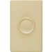 Lutron D-600R-IV Single Pole Rotary Dimmer; 120 Volt AC, 600 Watt, Incandescent/Halogen, Ivory