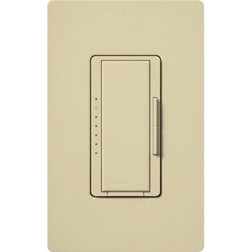 Lutron MA-600-IV Maestro® Single Pole Digital Tap On/Off Fade Dimmer Switch; 120 Volt AC, 600 Watt, Incandescent/Halogen, Ivory