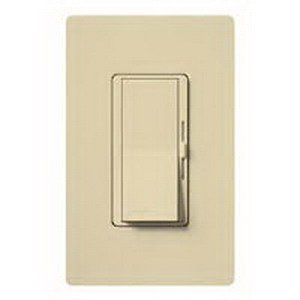 Lutron DV-603P-IV Diva® Single Pole 3-Way Preset Slide Dimmer with Paddle On/Off Switch; 120 Volt AC, 600 Watt, Incandescent/Halogen, Ivory