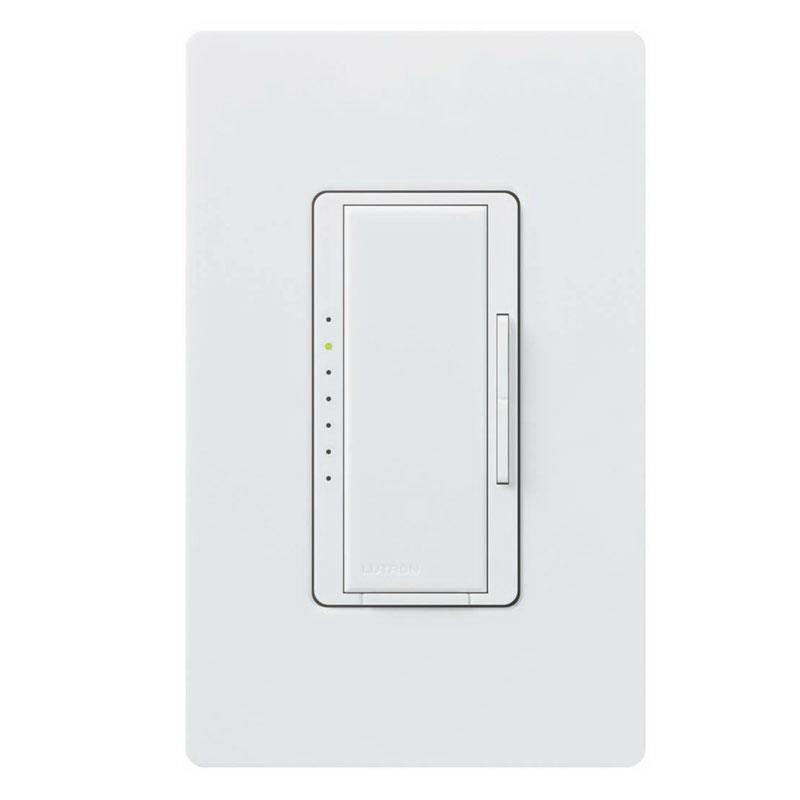 Lutron MA-1000-WH Maestro® Single Pole Digital Tap On/Off Fade Dimmer Switch; 120 Volt AC, 1000 Watt, Incandescent/Halogen, White