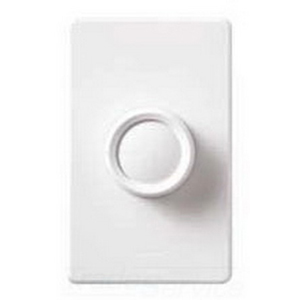 Lutron FS-5E-WH Fully Variable Fan Speed Control; 120 Volt AC, 5 Amp, Single Pole, Rotary On/Off, White
