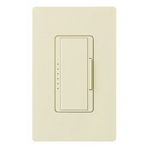 Lutron MA-600-AL Maestro® Single Pole Digital Tap On/Off Fade Dimmer Switch; 120 Volt AC, 600 Watt, Incandescent/Halogen, Almond