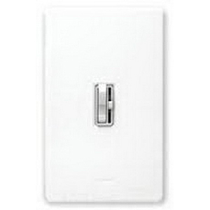 Lutron AY-103PH-WH Ariadni® Single Pole 3-Way Preset Slide Dimmer with Toggle Switch; 120 Volt AC, 1000 Watt, Incandescent/Halogen, White