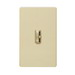 Lutron AY-600PH-IV Ariadni® Single Pole Preset Slide Dimmer with Toggle Switch; 120 Volt AC, 600 Watt, Incandescent/Halogen, Ivory