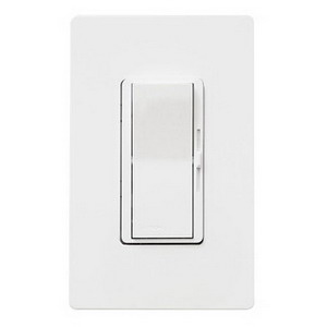Lutron DVFSQ-F-WH Diva® Quiet Three Speed Fan Control; 120 Volt AC, 1.5 Amp, Single Pole/Three Way, Paddle Switch Turns On/Off, White