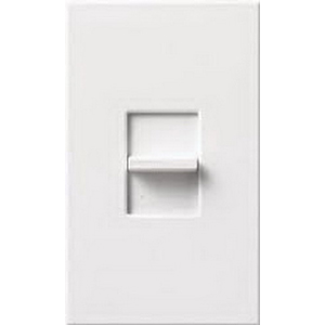 Lutron NTF-10-WH Nova-T® Single Pole Small Control Fluorescent Slide-To-Off Dimmer; 120 Volt, 1000 Watt, 16 Amp, White