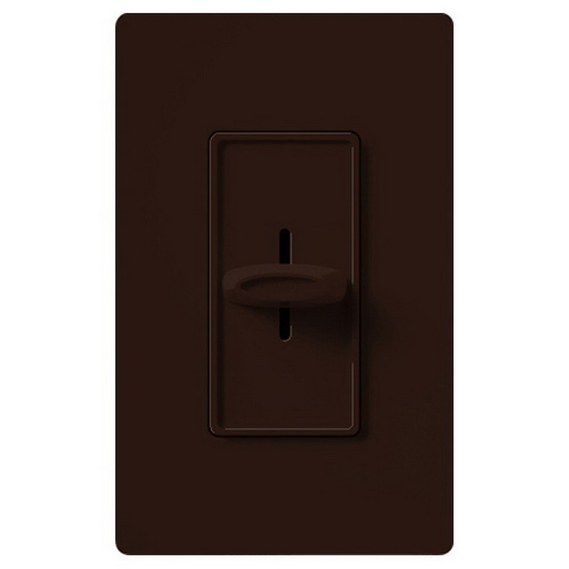 Lutron SFSQ-F-BR Skylark Contour&reg Quiet Three Speed Fan Control 120 Volt AC  1.5 Amp  Single Pole  Decorator Slide Switch On/Off  Brown
