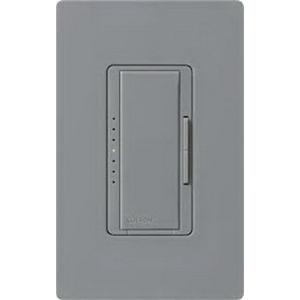 Lutron MA-600-GR Maestro® Single Pole Digital Tap On/Off Fade Dimmer Switch; 120 Volt AC, 600 Watt, Incandescent/Halogen, Gray
