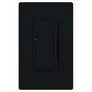 Lutron MA-600-BL Maestro® Single Pole Digital Tap On/Off Fade Dimmer Switch; 120 Volt AC, 600 Watt, Incandescent/Halogen, Black