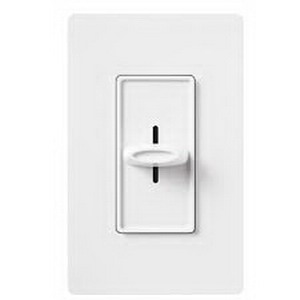 Lutron SFS-5E-WH Skylark Contour&reg Fully Variable Fan Speed Control 120 Volt AC  5 Amp  Single Pole  Rocker Switch Slide On/Off  White