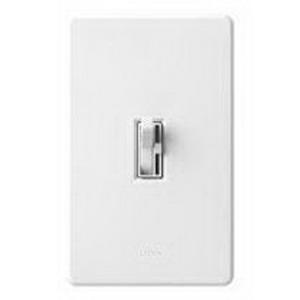 Lutron AYF-103P-WH Ariadni® Single Pole 3-Way Fluorescent Preset Slide Dimmer with Toggle Switch; 120 Volt AC, 1000 Watt, 8 Amp, White