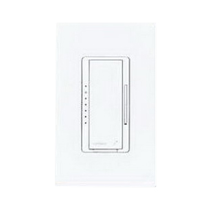 Lutron MRF2-600M-WH Maestro Wireless® Single Pole Tap On/Off Dimmer Switch with RF Receiver; 120 Volt AC, 600 Watt, Incandescent/Halogen, White