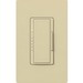 Lutron MRF2-600M-IV Maestro Wireless® Single Pole Tap On/Off Dimmer Switch with RF Receiver; 120 Volt AC, 600 Watt, Incandescent/Halogen, Ivory