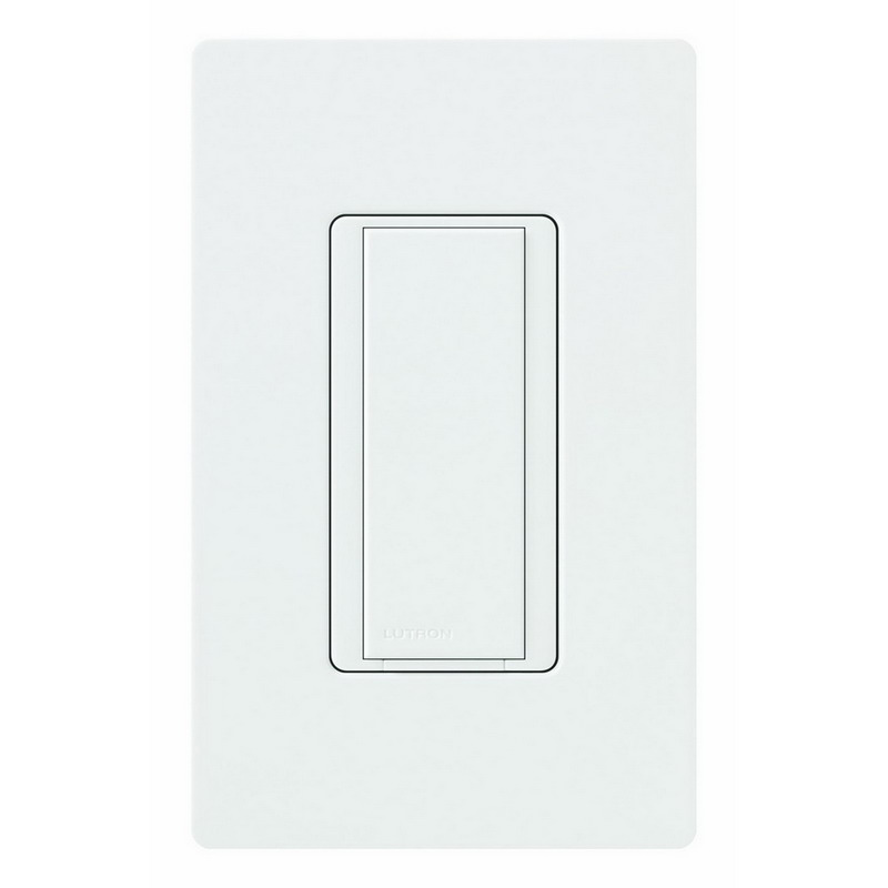 Lutron MA-AS-277-WH Maestro® Companion Digital Switch; 1-Pole, 277 Volt AC, 8 Amp Light, 3 Amp Fan, White