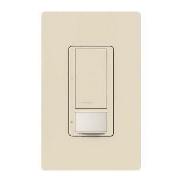 Lutron MS-OPS5AM-LA Maestro® XCT™ Passive Infrared Combination Switch and Occupancy Sensor; 120 Volt AC, 900 Sq ft, Automatic On/Automatic Off Or Manual On/Automatic-Off, Light Almond, Box Mount