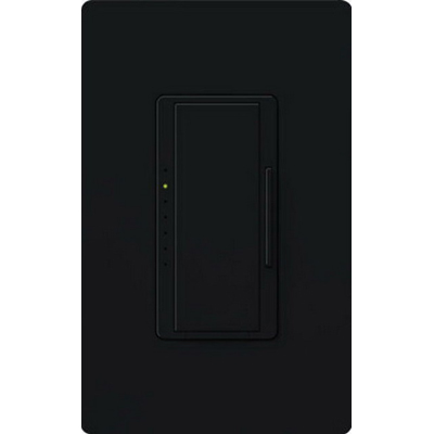 Lutron MRF2-600M-BL Maestro Wireless® Single Pole Tap On/Off Dimmer Switch with RF Receiver; 120 Volt AC, 600 Watt, Incandescent/Halogen, Black