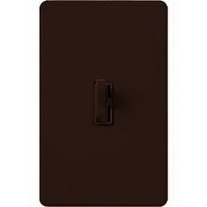 Lutron AY-603P-BR Ariadni® Single Pole 3-Way Preset Slide Dimmer with Toggle Switch; 120 Volt AC, 600 Watt, Incandescent/Halogen, Brown