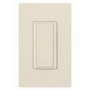 Lutron MRF2-6ANS-LA Maestro Wireless® Digital Switch with RF Receiver; 1-Pole, 120 Volt AC, 6 Amp Light, 3 Amp Fan, Gloss, Light Almond