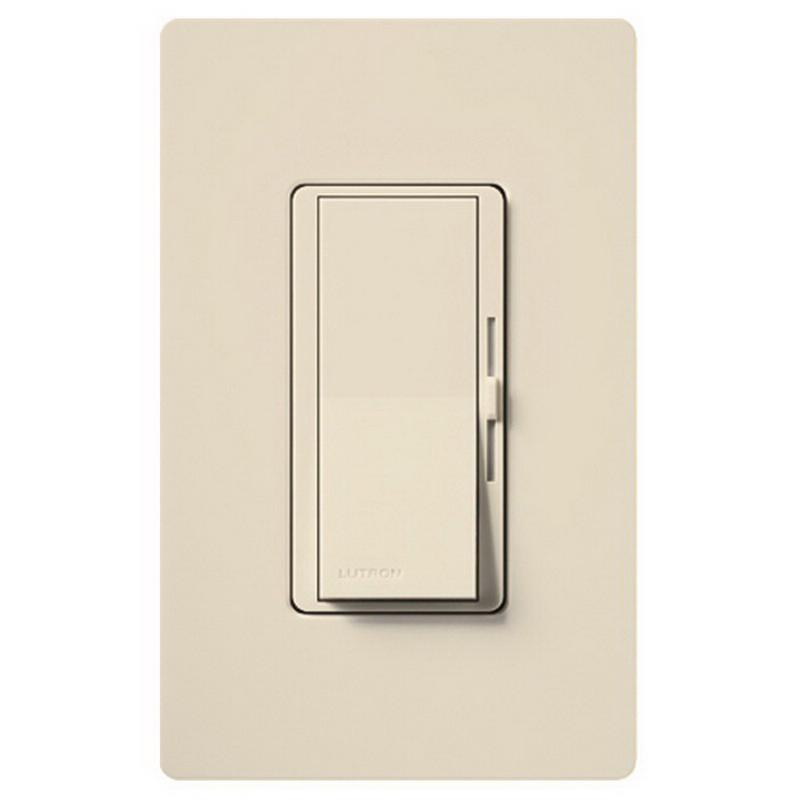 Lutron DVFSQ-F-HO-LA Diva® Quiet Three Speed Fan Control; 120 Volt AC, 2 Amp, Single Pole/Three Way, Paddle Switch Turns On/Off, Light Almond