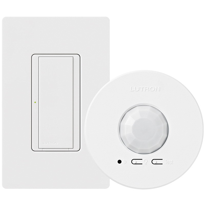 Lutron MRF2-1S8A-1O Passive Infrared Simple Energy Retrofit Package; 120/277 Volt, 324 - 676 Sq ft, White, Ceiling Mount