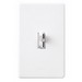 Lutron AYCL-153P-WH Ariadni® C. L™ Single Pole 3-Way Slide Dimmer with Toggle Switch; 120 Volt AC, 150 Watt, CFL/LED/Incandescent/Halogen, White