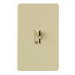 Lutron AYCL-153P-IV Ariadni® C. L™ Single Pole 3-Way Slide Dimmer with Toggle Switch; 120 Volt AC, 150 Watt, CFL/LED/Incandescent/Halogen, Ivory