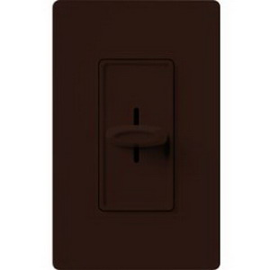 Lutron SFS-5E-BR Skylark Contour&reg Fully Variable Fan Speed Control 120 Volt AC  5 Amp  Single Pole  Rocker Switch Slide On/Off  Brown