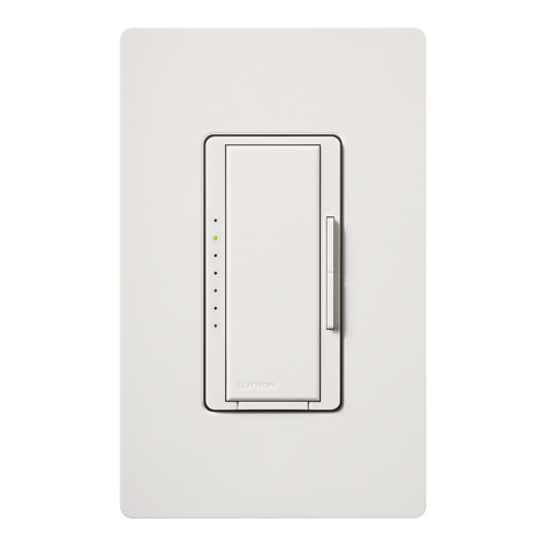 Lutron MAW-603-RH-WH Maestro&reg Single Pole 3-Way Tap On/Off Dimmer Switch 120 Volt AC  600 Watt  Incandescent/Halogen  White