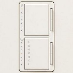 Lutron MA-L3T251-BI Maestro&reg Single Pole Digital Fade Tap On/Off Dimmer with Timer Switch 120 Volt AC  300 Watt  2.5 Amp  Incandescent/Halogen  Biscuit