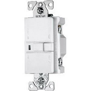 Cooper Wiring VGFD20W Arrow Hart™ Blank Face Switch Rated Specification Grade GFCI Receptacle; Screw Mount, 125 Volt AC, 20 Amp, 2-Pole, 3-Wire, NEMA 5-20R, White