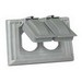 Cooper Wiring S1954 Arrow Hart™ Oversized 1-Gang Weatherproof Cover; Tough Plastic, Gray