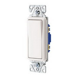 Cooper Wiring 7501W Decorator Standard Switch; 1-Pole, 120/277 Volt AC, 15 Amp, White