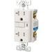 Cooper Wiring TRVGF20W-SP Arrow Hart™ Grounding Tamper-Resistant Specification Grade Duplex GFCI Receptacle; Wall Mount, 125 Volt AC, 20 Amp, 2-Pole, 3-Wire, NEMA 5-20R, White