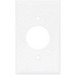Cooper Wiring PJ7W Midway Size Specification Grade 1-Gang Single Receptacle Plate; Screw Mount, Thermoplastic, White