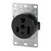 Cooper Wiring 1253-BOX Arrow Hart™ Grounding Power Receptacle; Flush Mount, 125 Volt AC, 50 Amp, 2-Pole, 3-Wire, NEMA 5-50R, Brown