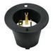 Cooper Wiring 5778C Arrow Hart™ Grounding Flanged Inlet; 20 Amp, 125 Volt, 3-Wire, 2-Pole, NEMA 5-20, Black/White