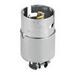 Cooper Wiring CS8264 Hart-Lock™ Arrow Hart™ Safety Grip Straight Body Locking Blade Connector; 50 Amp, 250 Volt AC, 2-Pole, 3-Wire, Steel