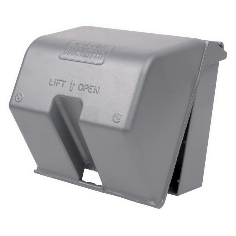 Red Dot 2CKU While-In-Use Extra-Duty Universal 2-Gang Weatherproof Cover; Box/Device Mount, Die-Cast Aluminum, Silver