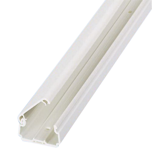 Panduit LDPH10EI10-A Pan-Way® Single Channel Size 10 Two-Piece Latching Surface Raceway; 10 ft, PVC, Electric Ivory