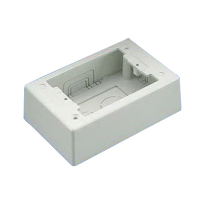Panduit JBP1IW Pan-Way® Power Rated 1-Gang Two-Piece Junction Box; PVC, International White