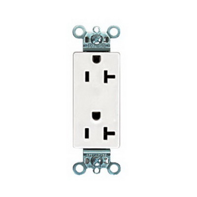 """""Panduit ERU20IW-X Pan-Way Power Rated Rectangular Outlet 20 Amp, International White,"""""" 697707"
