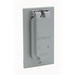 Leviton 4992 1-Gang Weather-Resistant Cover; Device Mount, Die-Cast Zinc, Gray