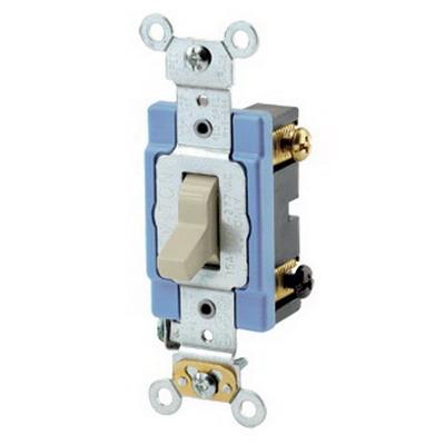 Leviton 1203-2I Toggle 3-Way AC Quiet Switch 1-Pole  120/277 Volt AC  15 Amp  Ivory