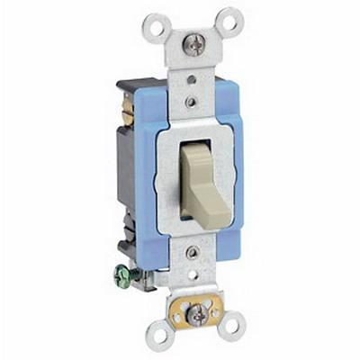 Leviton 1204-2I Toggle 4-Way AC Quiet Switch 2-Pole  120/277 Volt AC  15 Amp  Ivory