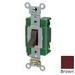Leviton 3032-2 Toggle AC Quiet Switch; 2-Pole, 120/277 Volt AC, 30 Amp, Brown
