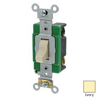 Leviton 3032-2I Toggle AC Quiet Switch; 2-Pole, 120/277 Volt AC, 30 Amp, Ivory